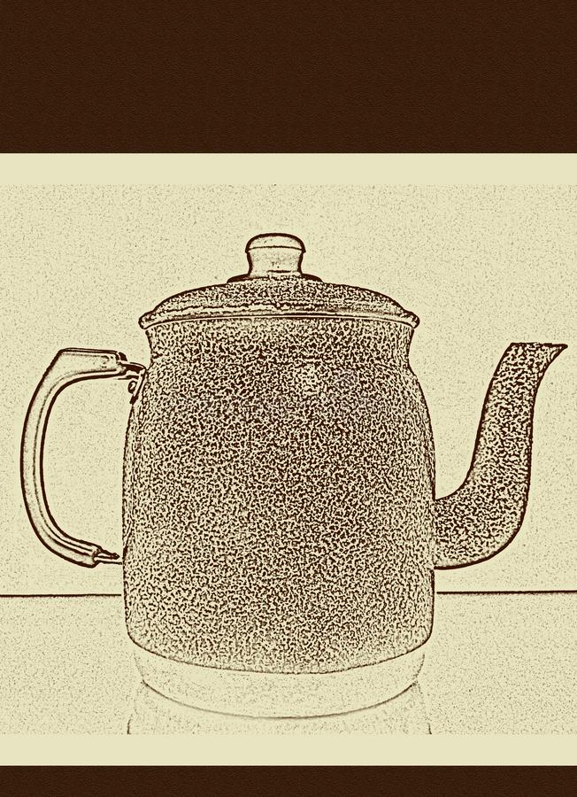 Meny för kaffe-, te- och frukostdrinkar arkivfoto