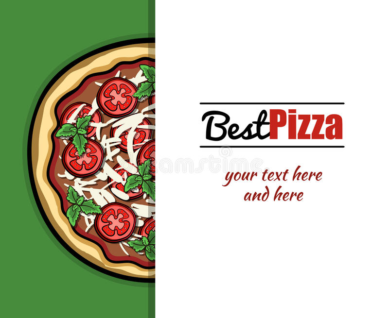 Meny för pizzeria 2 vektor illustrationer
