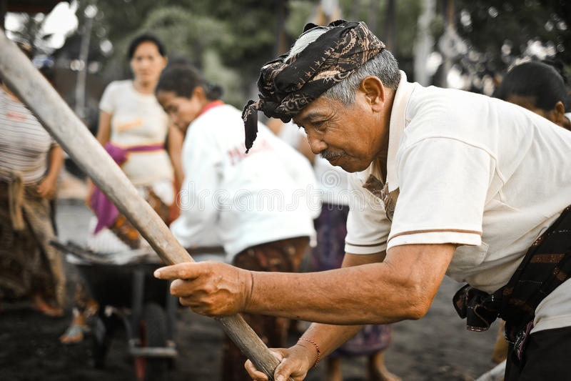Menyame Braye,巴厘语仪式,印度尼西亚 免版税库存图片