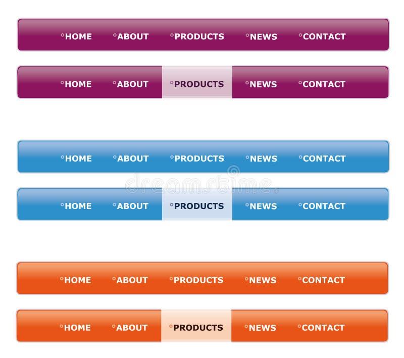 menynavigeringwebsite stock illustrationer