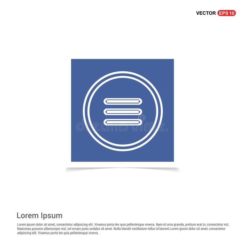 menysymbol - blå fotoram vektor illustrationer
