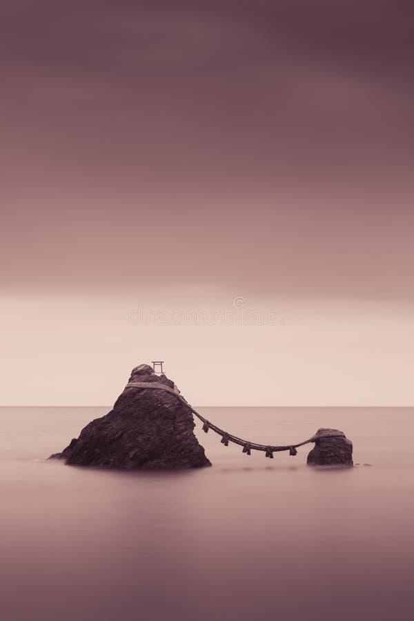 Meoto Iwa poślubiać skały zdjęcie stock