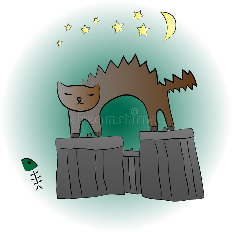meow illustration stock