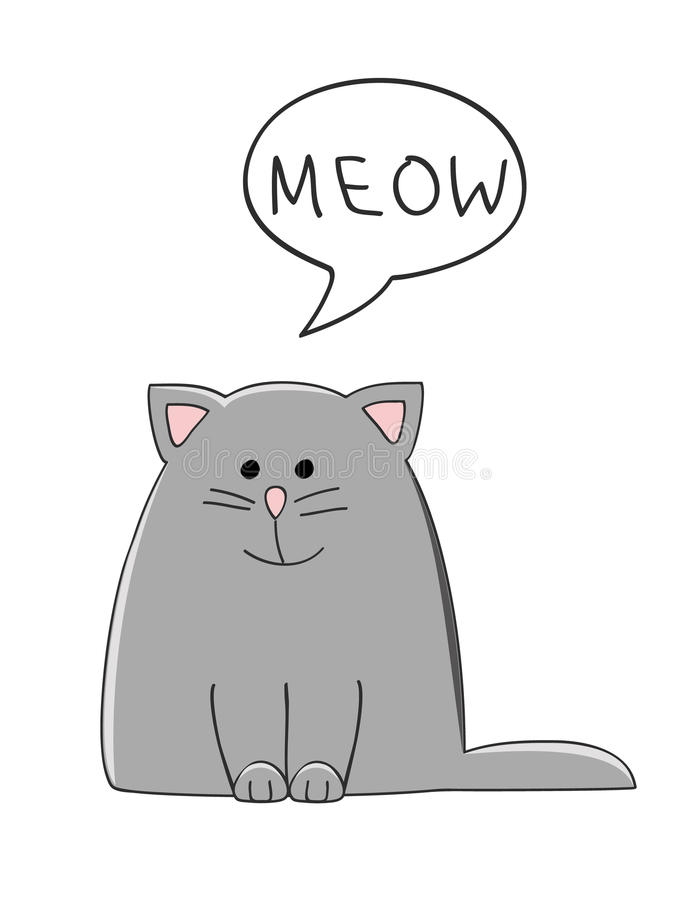 Meow Cat Stock Vector Image 65746477