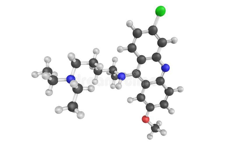 Mepacrine, ook genoemd quinacrine, een drug met verscheidene medische a royalty-vrije stock fotografie