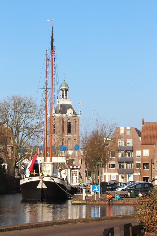 Meppel pittoresque aux Pays-Bas photos libres de droits