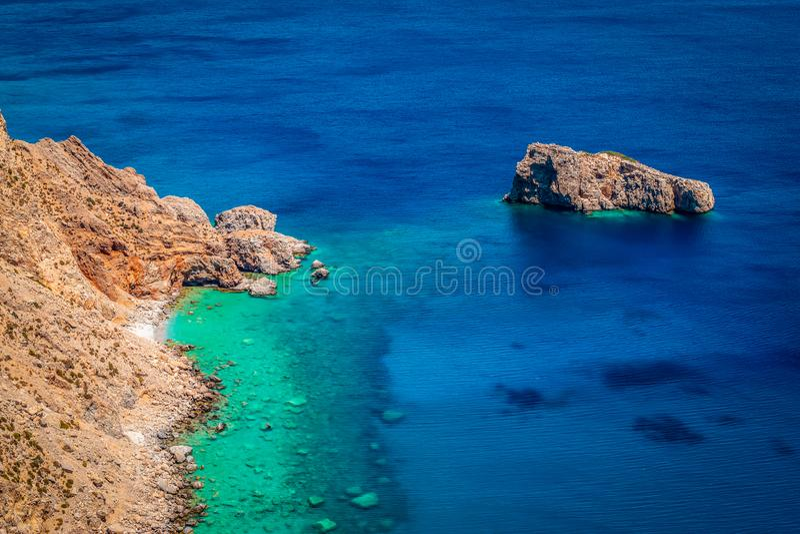 Mer Égée, île d'Amorgos, Grèce image libre de droits