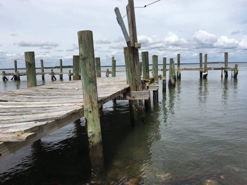 Mer abandonnée dock2 images libres de droits