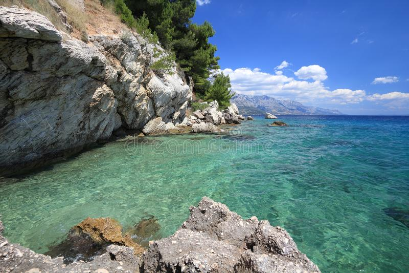 Mer Adriatique de Makarska la Riviera photo stock