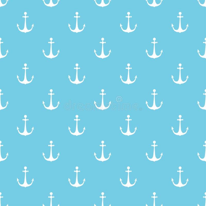 Mer ancre de hite sur un fond bleu photos libres de droits