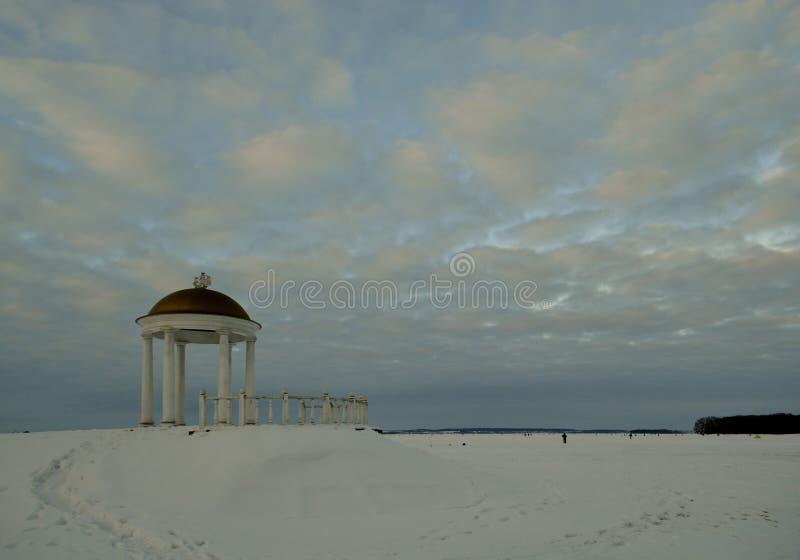Mer artificielle de Minsk en hiver belarus photos libres de droits