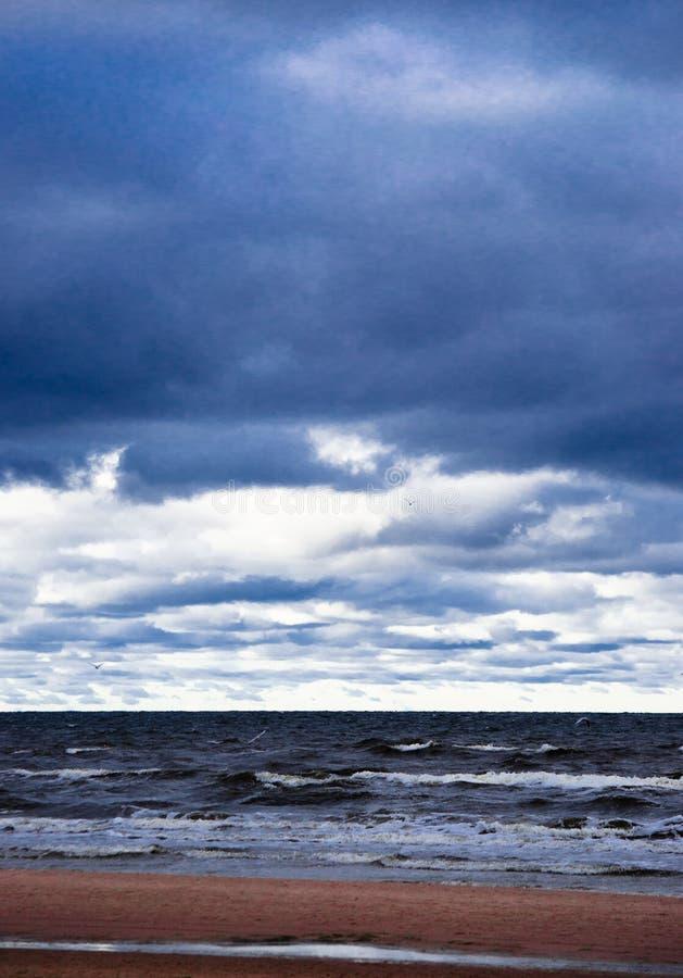 Mer baltique d'automne froid - Pologne images libres de droits