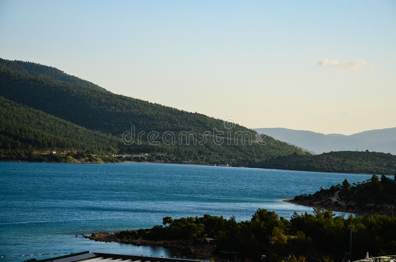 Mer bleue images stock