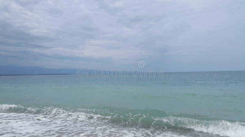 Mer bleue image stock