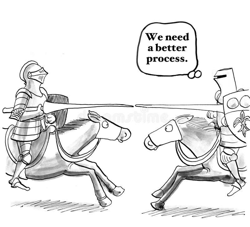 Mer bra process royaltyfri illustrationer
