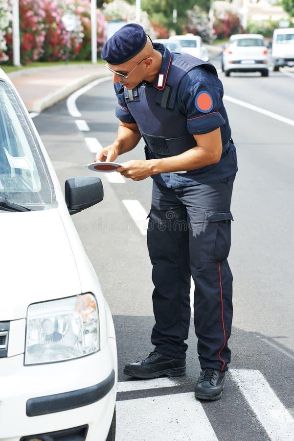 Mer carabinier italiensk polis royaltyfria foton