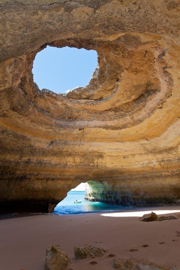 Mer-cavernes Portugal de Benagil images libres de droits