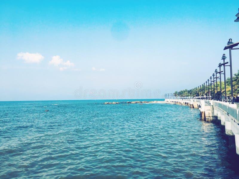 Mer Chonburi bangsan Thaïlande photographie stock