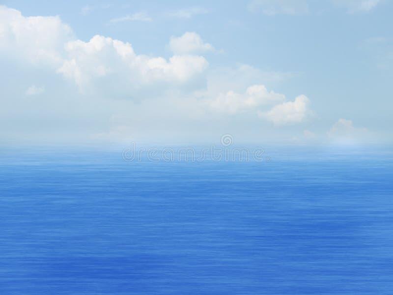 Mer, ciel et nuages image libre de droits