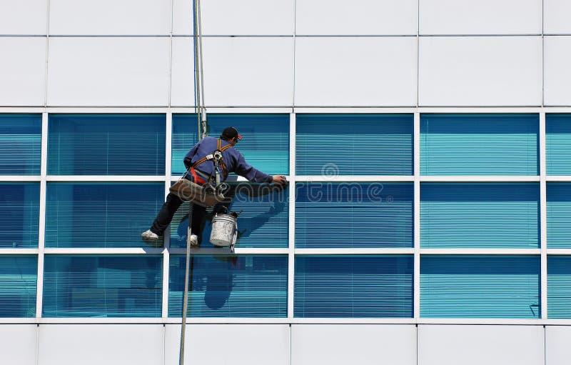mer cleaner fönster royaltyfri foto