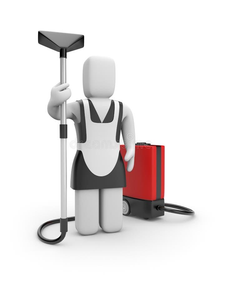 mer cleaner maidvakuum royaltyfri illustrationer