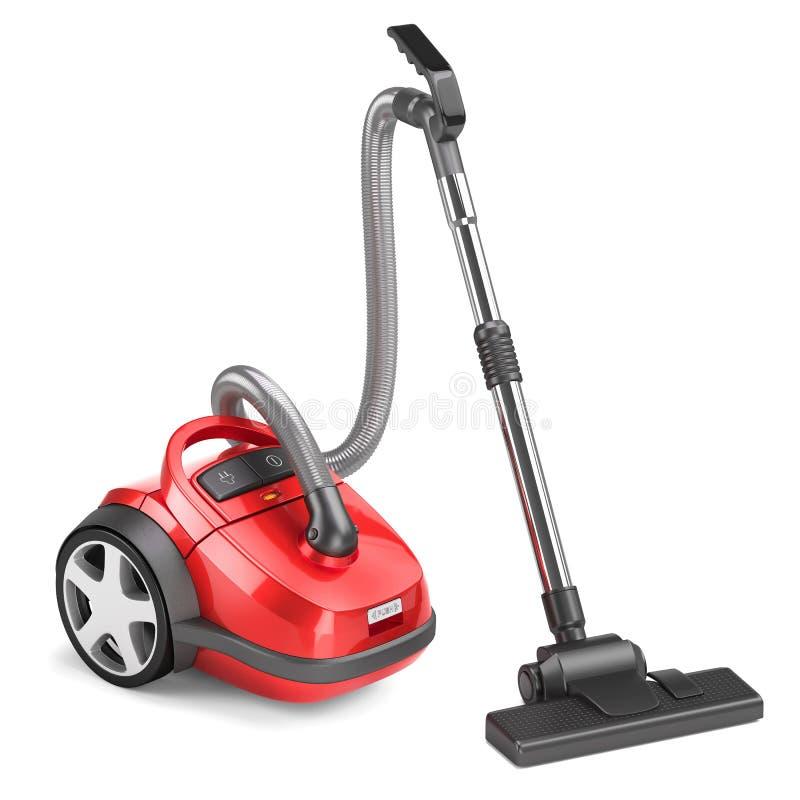 mer cleaner rött vakuum royaltyfri illustrationer