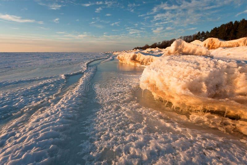 Mer congelée images libres de droits