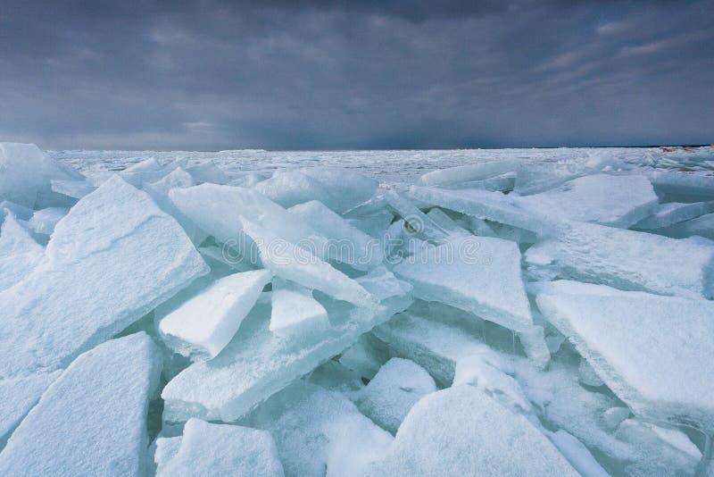 Mer congelée image libre de droits