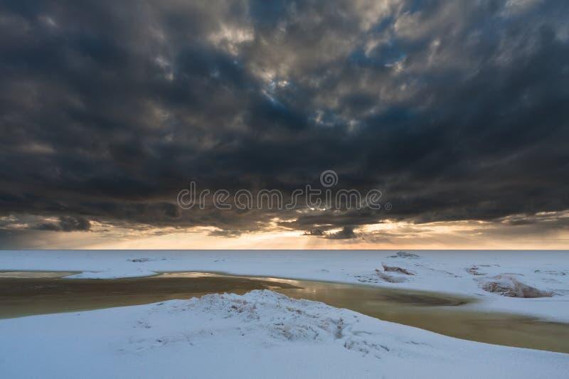 Mer congelée photos stock
