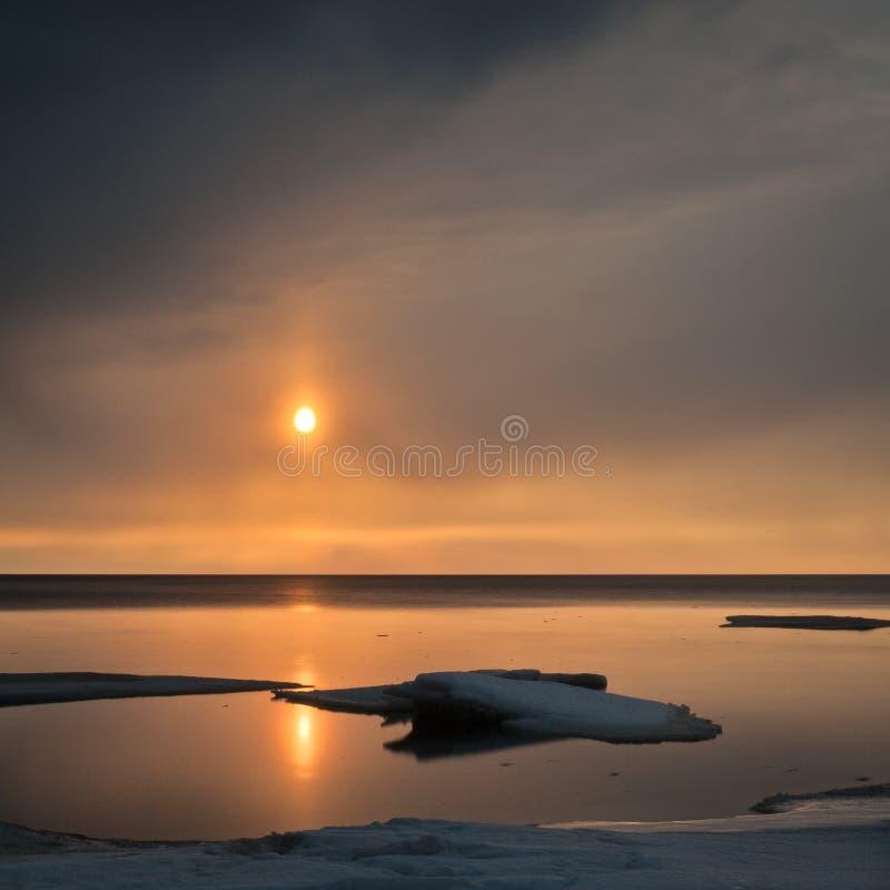 Mer congelée photographie stock libre de droits