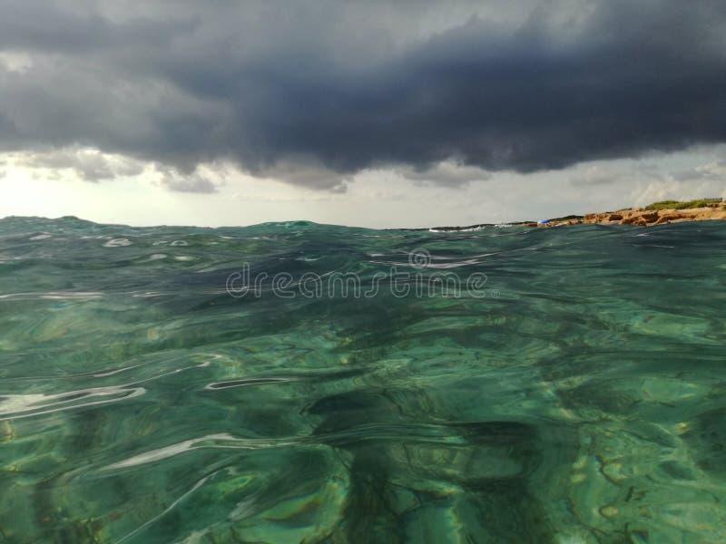 Mer contre le ciel photo libre de droits