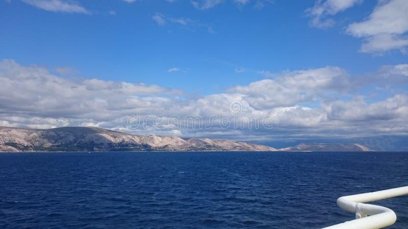 Mer Croatie images libres de droits