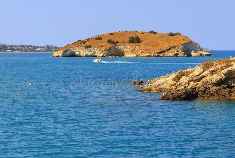 Mer d'été Côte de Gargano : baie de Vieste - (Pouilles) l'ITALIE images stock