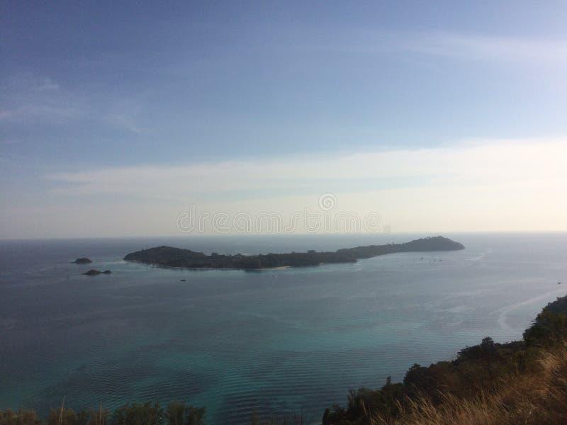 Mer d'île d'Adang d'île de Lipe image libre de droits