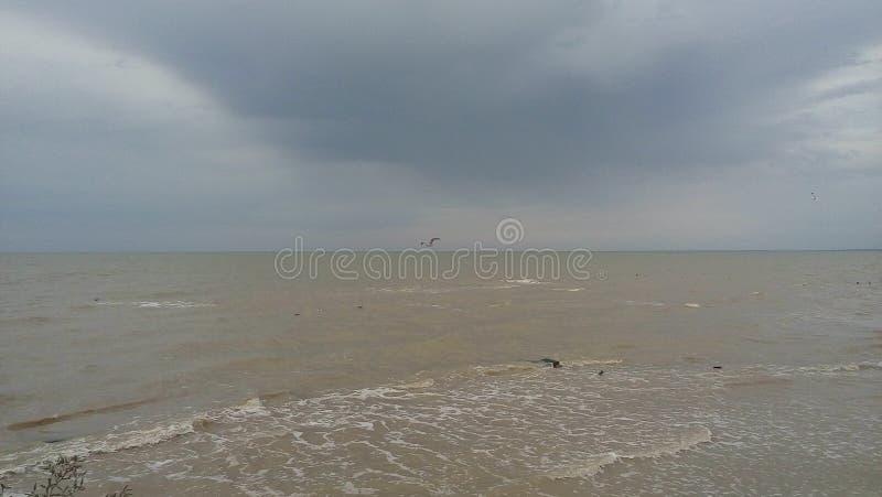 Mer d'Azov après pluie photographie stock libre de droits