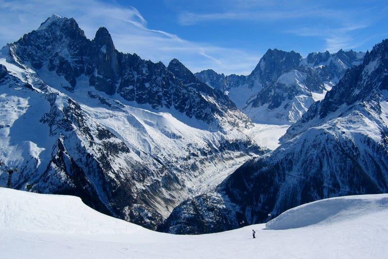 Mer DE Glace Glacier stock afbeeldingen