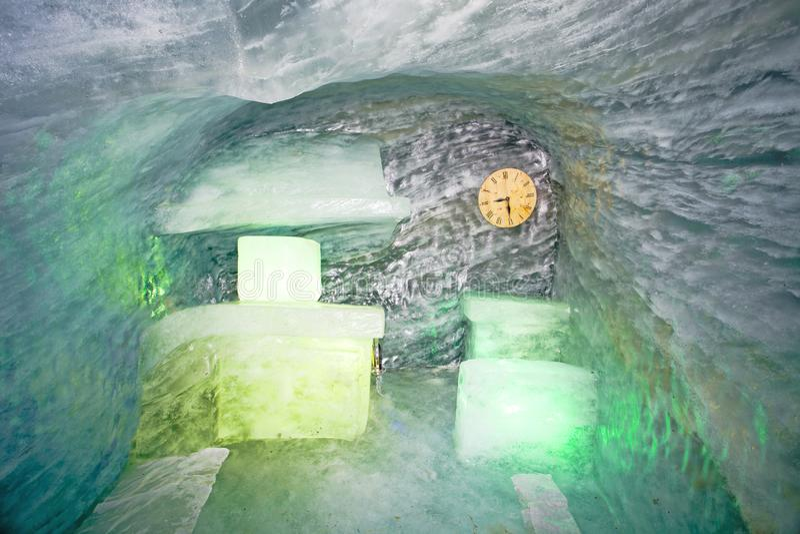 Mer de Glace Museum royaltyfria bilder