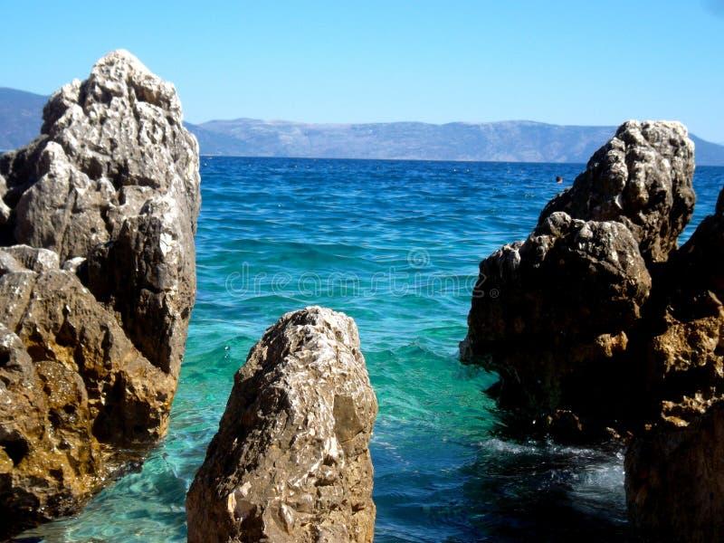 Mer de la Croatie photos stock