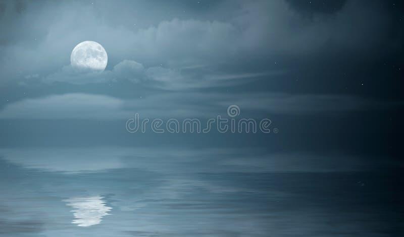Mer de nuit photo stock