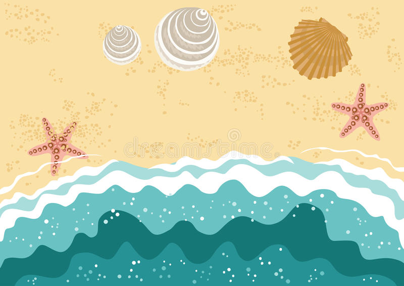 mer de plage illustration stock