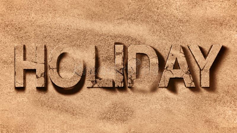 Mer de plage des Caraïbes tropicales avec sable doré, mot de vacances, concept de détente image libre de droits