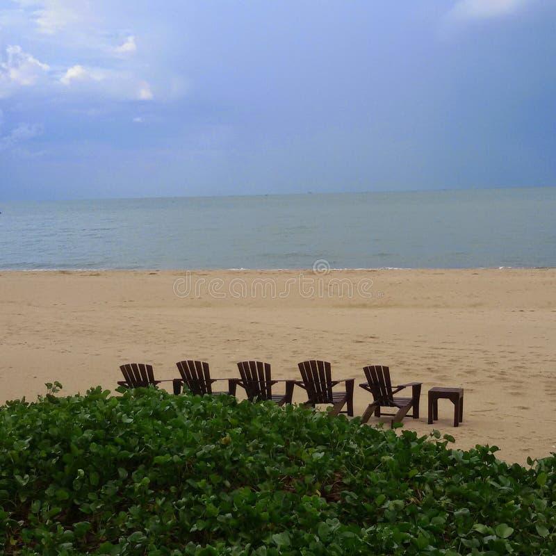 Mer de Pranburi photographie stock libre de droits