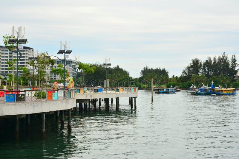 Mer de sud de la Chine en Kota Kinabalu, Malaisie images libres de droits