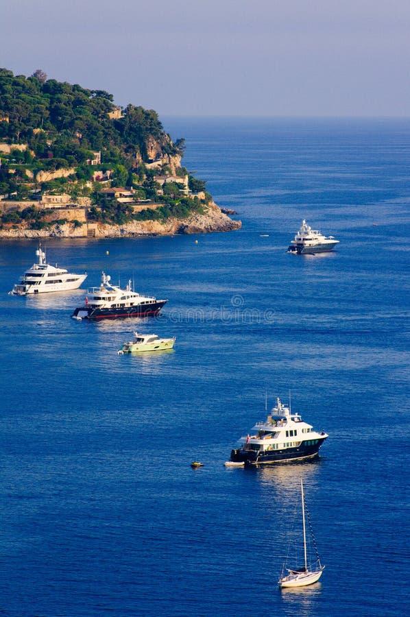 Mer del sur di Villefranche, Riviera francese immagini stock