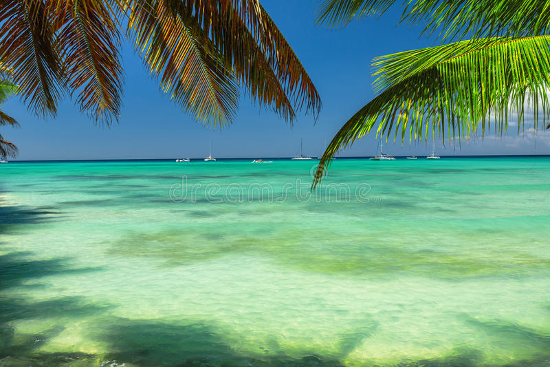 Mer des Caraïbes, belle vue panoramique image stock