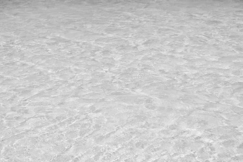 Mer des Caraïbes dans le Maya de côte, Mexique L'eau de mer ou d'océan Eau de mer claire au-dessus du sable blanc le jour ensolei photos stock