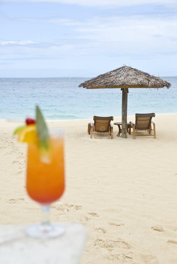 mer des Caraïbes de cocktail tropicale image stock