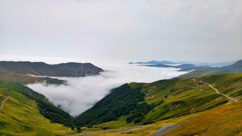 Mer des nuages photo stock
