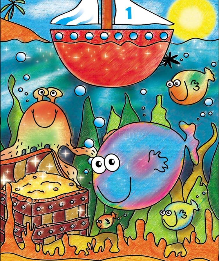 mer dessous photo libre de droits