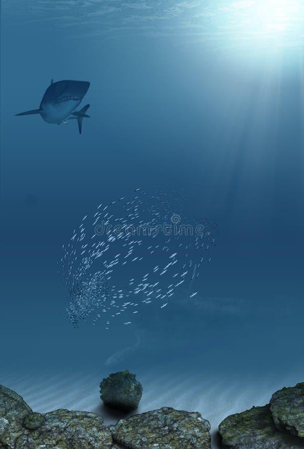 mer dessous illustration stock